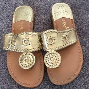 Shoes - Palms gold sandal